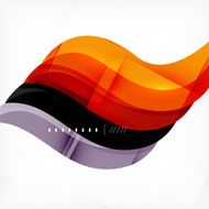 Color orange and purple stripes business design