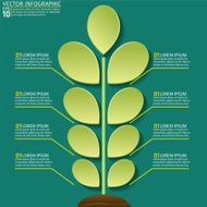 Green Plant Infographic On A Base