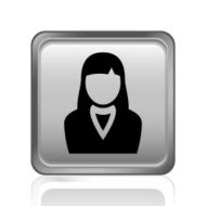 Businesswoman icon on a square button N21