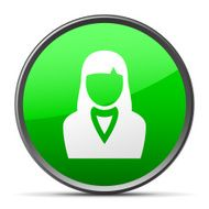 Businesswoman icon on a round button N48