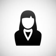 Businesswoman icon on a white background N30
