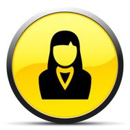 Businesswoman icon on a round button N53