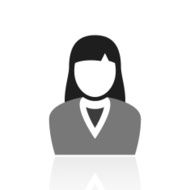 Businesswoman icon on a white background N31