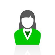 Businesswoman icon on a white background N32