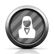 Businesswoman icon on a round button N54