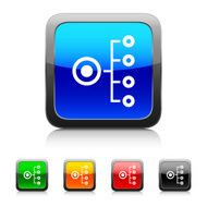 Organization Chart icon on color buttons N4