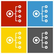 Organization Chart icon on square buttons N9