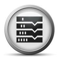 Flowchart icon on a silver button N16