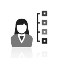 Businesswoman icon on a white background N38