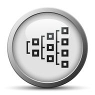 Flowchart icon on a silver button N18