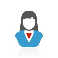 Businesswoman icon on a white background N60