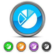 Pie Chart icon on circle buttons N14