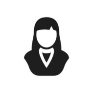 Businesswoman icon on a white background N61