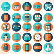 Modern flat vector shopping icons