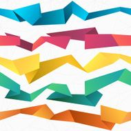 Colorful seamless vector abstract polygonal origami background