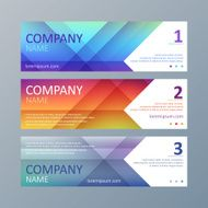 Set of geometric banners templates