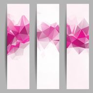 Set of banners with abstract triangles N2
