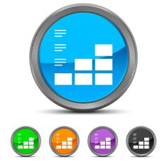 Bar Graph icon on circle buttons N31