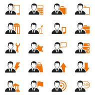 businessman icon set N2