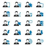 businessman icon set N3