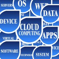 abstract cloud computing technology concept pattern background