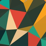 Geometric background with triangles