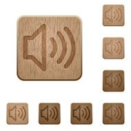 Volume wooden buttons