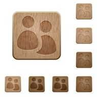 User group wooden buttons