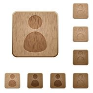 User wooden buttons