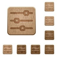 Horizontal adjustment wooden buttons