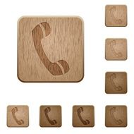 Call wooden buttons