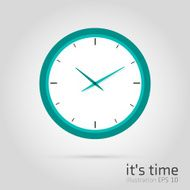 Modern Flat Time Management Vector Icon for Web clock