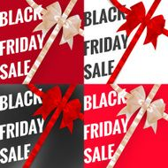 Black friday sale typographical Set EPS 10