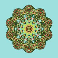 Mandala Floral ethnic abstract decorative elements