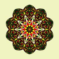 Mandala Floral ethnic abstract decorative elements N3