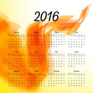 Calendar 2016 template design with header picture starts monday N29