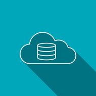 Cloud computing icon vector illustration