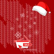 Christmas shopping winter sale snowflakes on red vector