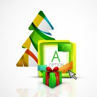 Abstract web message box with Christmas decoration N2