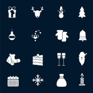 Christmas icons set N3