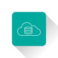 Cloud computing icon vector illustration N2