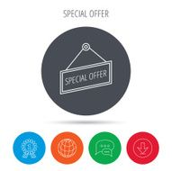 Special offer icon Advertising banner tag sign