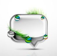 Modern abstract speech bubble with Christmas decoration N4