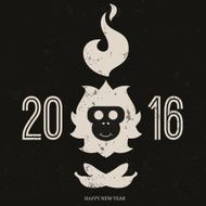 Design inspiration with symbol of 2016 year is monkey N18