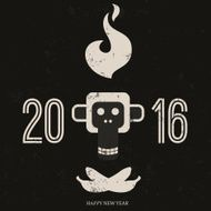 Design inspiration with symbol of 2016 year is monkey N23