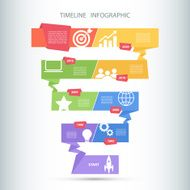 Timeline infographic design template N2