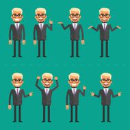 Businessman blond in various poses