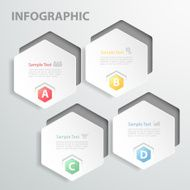 Design template Infographic 4 steps for business concept N4