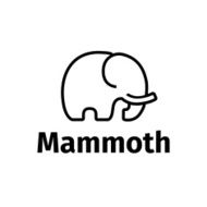 Vector trendy line style minimalistic mammoth logo