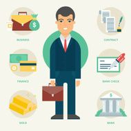Profession Businessman Vector illustration flat style
